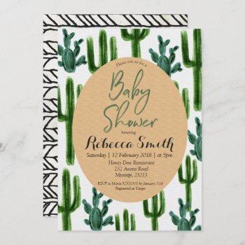 Cactus Greenery Baby Shower  Modern