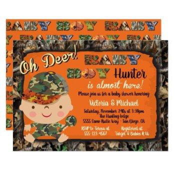 Camo Hunting Baby Shower Invitations