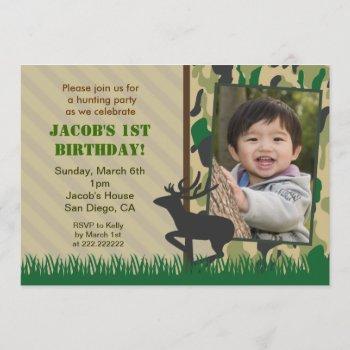 Camo Hunting Photo Birthday