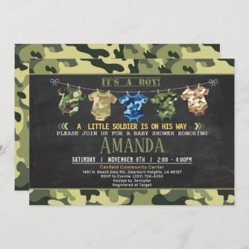 Camouflage Baby Shower Invite