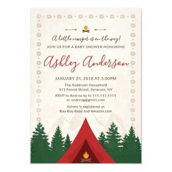 Camping Baby Shower Invitation