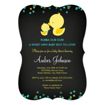 Chalkboard Rubber Duck Baby Shower Invite
