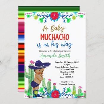 Charro Muchacho Mexican Boy Baby Shower Invitation