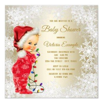 Christmas Baby Shower Invitations