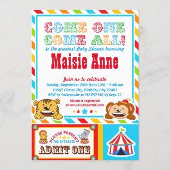 Circus Carnival Baby Shower Party