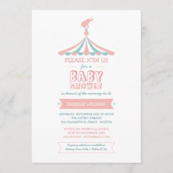 Circus Carnival Pink Teal Baby Shower