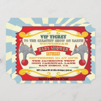 Circus Or Carnival Ticket Baby Shower