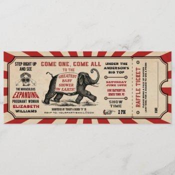 Cirus Baby Shower Ticket  Diaper Raffle