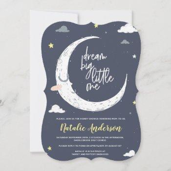 Clouds, Moon & Star Baby Shower Invitation