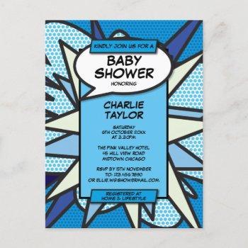 Comic Book Pop Baby Shower Sprinkle  Photo Invite