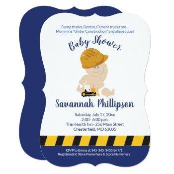 Construction Baby Boy Baby Shower Invitation