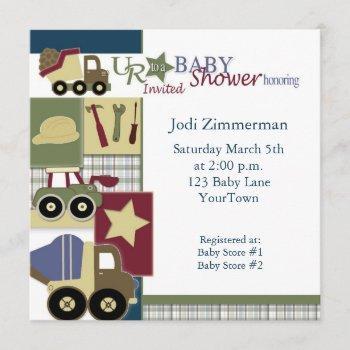 Construction_baby_shower2, Jodi Zimmerman, Satu... Invitation