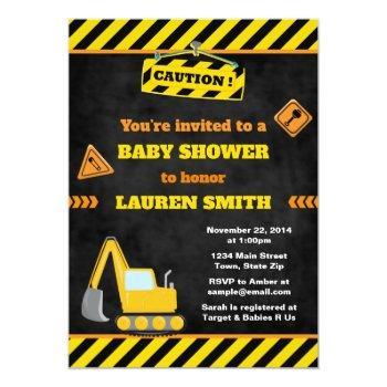 Construction Baby Shower Invitation Baby Boy