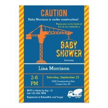 Construction Site Baby Shower Invitation