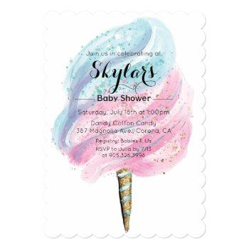 Cotton Candy Baby Shower Invitation