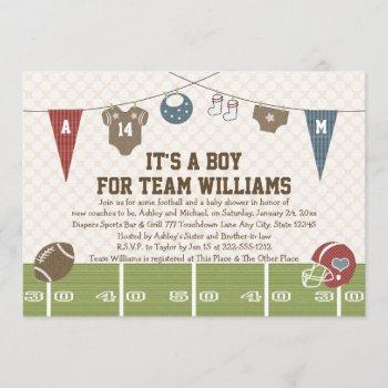 Couples Co-ed Football Baby Shower Invitations