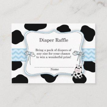 Cow Cowboy Diaper Raffle Ticket Enclosure Card