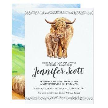 Cow Love Baby Shower Invitation