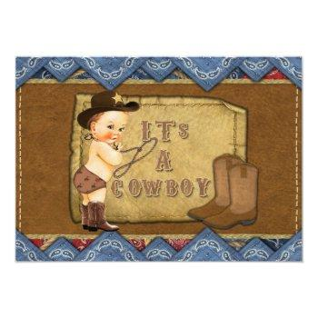Cowboy Baby Shower Invitation