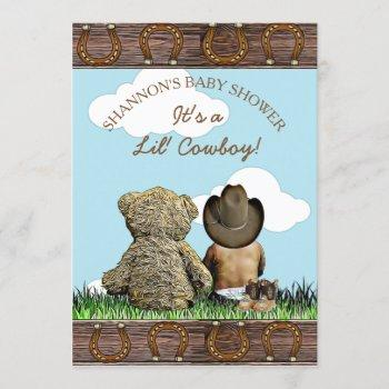 Cowboy Ethnic Baby And Teddy Bear Baby Shower