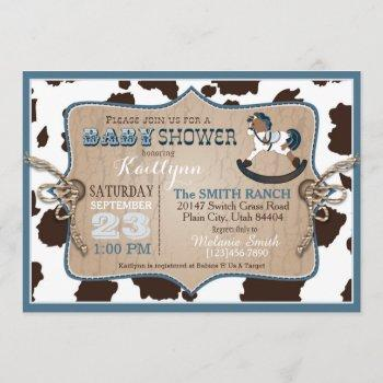 Cowboy Western Rocking Horse Baby Shower