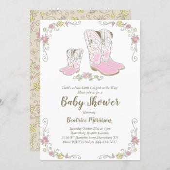 Cowgirl Baby Shower Country Western Pink Girl