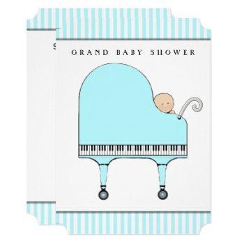 Creative Boy Baby Shower Invitation