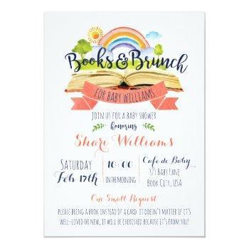 Custom Books And Brunch Baby Shower Invitation