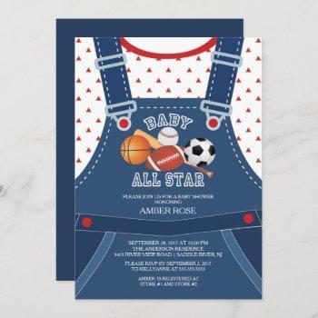 Cute All Star Sport Baby Shower Invitation