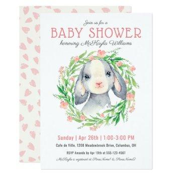 Cute Baby Lamb Girl Baby Shower Invitation