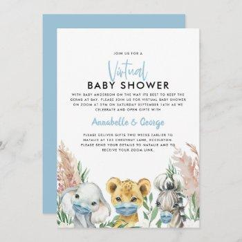 Cute Baby Shower By Mail Animal Covid Mask