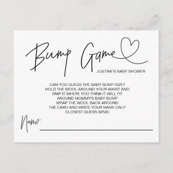 Cute Baby Shower Game Baby Bump Guess Cards Heart