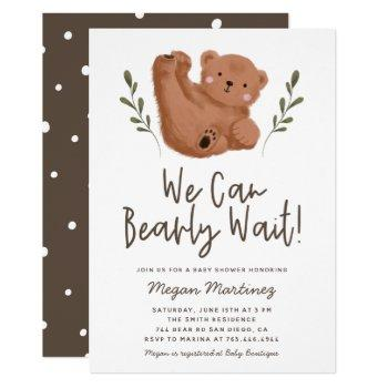 Cute Bear Theme Gender Neutral Baby Shower Invitation
