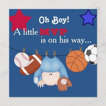 Cute Boys Sports Baby Shower