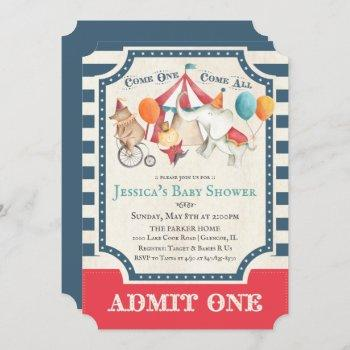 Cute Circus Carnival Baby Shower