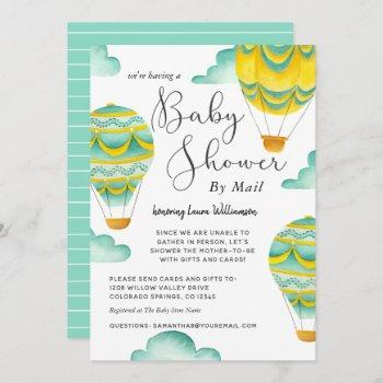 Cute Hot Air Balloons Baby Shower By Mail