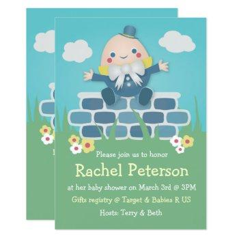Cute Humpty Dumpty Baby Shower Invitation