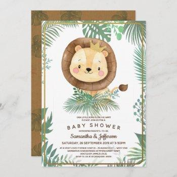 Cute Lion Baby Shower Theme Invitation