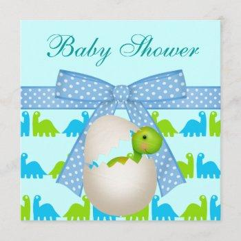 Cute Newly Hatched Baby Dinosaur Baby Shower Invitation