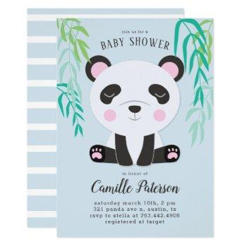 Cute Panda Baby Shower Invitation