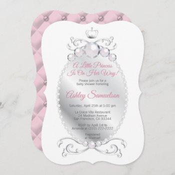 Cute Princess Is On Her Way Baby Shower Pink Grey