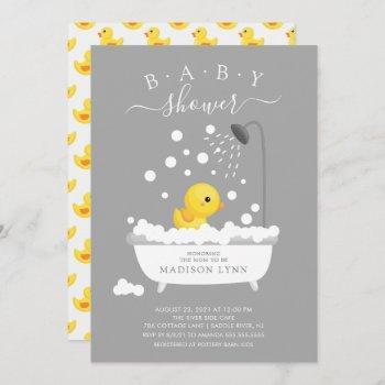 Cute Rubber Duck Shower Baby Invitation