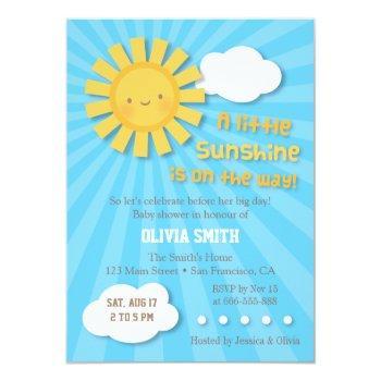 Cute Sunshine Baby Shower Invitations