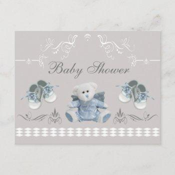 Cute Teddy & Shoes Baby Shower