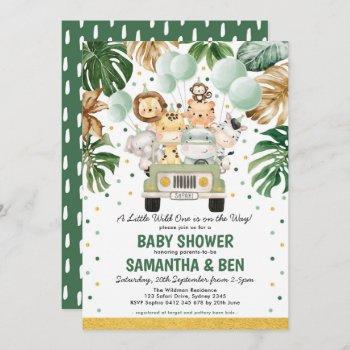 Cute Tropical Safari Jungle Animals Baby Shower