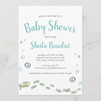 Cute Under The Sea Fish Baby Shower