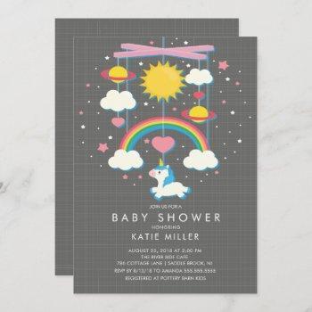 Cute Unicorn Mobile Baby Shower