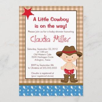 Cute Western Cowboy Baby Shower