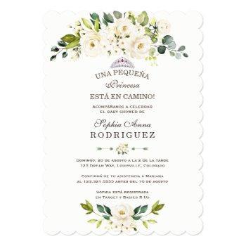 Delicate White Flowers Invitación De Baby Shower Invitation