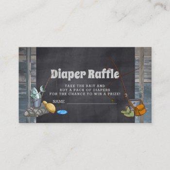 Diaper Raffle Fishing Boy Baby Shower Insert Cards
